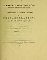 view De medicina militaris apud veteres Graecos Romanosque conditione. X / D. Carolus Gottlob Kühn.