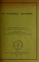 view On puerperal amaurosis / by Sydney Stephenson ; with a note by W.P. Herringham.