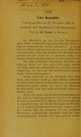 view Ueber Hämophilia : Vortrag gehalten am 23. November 1894 im württemb. ärzt. Bezirksverein VIII (Ravensburg) / von H. Fischer.