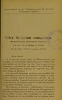 view Ueber Molluscum contagiosum : (mit Demonstration mikroskopischer Präparate) / von A. Neisser.