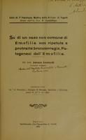 view Su di un caso non comune di emofilia con ripetute e protratte broncorragie : patogenesi dell'emofilia / pel dott. Antonio Lombardi.