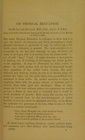 view On physical education / by Sir Lauder Brunton.