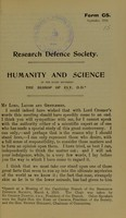 view Humanity and science