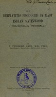 view The dermatitis produced by East Indian satinwood ('chloroxylon swietenia')