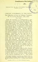view Chronic gonorrhea in the male : the difficulties of cure by ordinary treatment / by Victor Cox Pedersen.