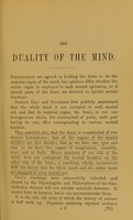 view The duality of the mind : read at the meeting of the Psychological Society of Great Britain, May 12, 1875