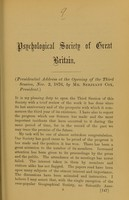 view Presidential address at the opening of the third session, Nov. 2, 1876