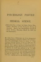 view Psychology proved by physical science