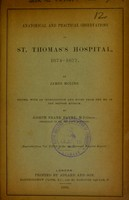 view Anatomical and practical observations in St. Thomas's Hospital, 1674-1677