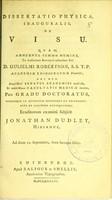 view Dissertatio physica, inauguralis, de visu ...