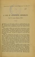 view A case of spondylitis deformans / by W. Allen Sturge.