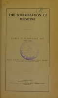 view The socialization of medicine / James P. Warbasse.