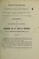 view Rapport sur un mémoire de M. Wurtz, intitulé Recherches sur les acides du phosphore