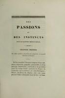 view Des passions et des instincts, sous le rapport médico-légal : thèse soutenue publiquement dans l'amphithéatre de la Faculté de médecine de Montpellier, le dimanche, 1er mars 1835 / par V. Trinquier.