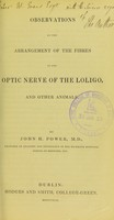 view Observations on the arrangement of the fibres in the optic nerve of the loligo and other animals.