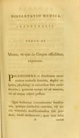 view Dissertatio medica, inauguralis, pauca de mente, et ejus in corpus effectibus, exponens / [Philip Holland].