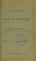view On 170 cases of errors of refraction