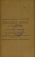 view Ambulance service in Philadelphia / by De Forest Willard.
