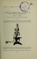 view A dissecting microscope, an accessory of the compound microscope / Victor E. Emmel.