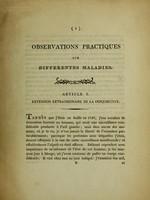 view Observations pratiques sur differentes maladies / F. Bouttatz.