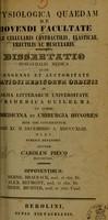 view Physiologica quaedam de movendi facultate : telae cellularis contractilis, elasticae, erectilis ac muscularis : dissertatio inauguralis medica ... / auctor Carolus Piecq.