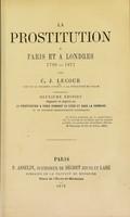 view La prostitution a Paris et a Londres, 1789-1871 / par C.J. Lecour.