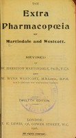 view The extra pharmacopoeia of Martindale and Westcott