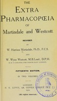 view The extra pharmacopoeia ... , revised by W. Harrison Martindale and W.W. Westcott.