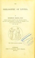 view The philosophy of living / by Herbert Mayo.