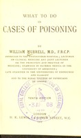view What to do in cases of poisoning.