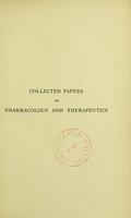 view Collected papers on pharmacology and therapeutics.