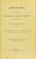 view Loimographia: an account of the Great Plague of London in the year 1665. Now first printed from the British Museum Sloan MS. 349, for the Epidemiological Society of London