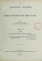 view Scientific memoirs by medical officers of the army of India.