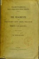 view Die Fragmente der sikelischen Ärzte Akron, Philistion und des Diokles von Karystos