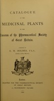 view Catalogue of the medicinal plants