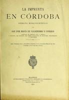 view La imprenta en Córdoba : ensayo bibliográfico