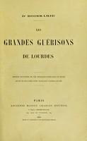 view Les grandes guérisons de Lourdes / [Lucien Boissarie].