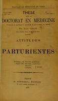 view Attitudes des parturientes / [René Giron].