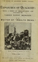 view Exposures of quackery : being a series of articles upon, and analyses of, various patent medicines