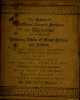 view Account of the great learned societies and associations, and of the chief printing clubs of Great Britain and Ireland