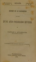 view Report of an expedition down the Zuni and Colorado rivers / by Captain L. Sitgreaves.