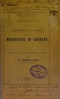 view Contribucion ad estudio de los mosquitos de Caracas