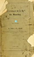 view Das Hirngewicht des Menschen : eine Studie / von Theodor Ludwig Wilhelm Bischoff.