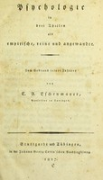 view Psychologie in drei Theilen als empirische, reine und angewandte / von Carl August Eschenmayer.