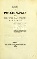 view Essai de psychologie ou de philosophie transcendante / par J.B. Mesnard.