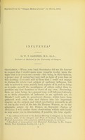 view Influenza / by W.T. Gairdner, M.D., LL.D., Professor of Medicine in the University of Glasgow.