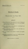 view Professional examinations for degrees in medicine and surgery, 1912-13 / University of Glasgow.