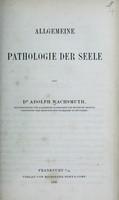 view Allgemeine Pathologie der Seele / von Adolph Wachsmuth.