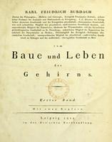 view Vom Baue und Leben des Gehirns / [Karl F. Burdach].