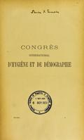 view Congrès international d'hygiène et de démographie a Paris en 1889. : Compte rendu publié par le secrétariat général du Congrès.